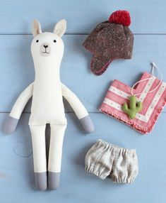 Sewing Stuffed Animals PDF Llama Alpaca Doll with Clothes Sewing Pattern Sewing Hacks, Sewing Tutorials, Sewing Crafts, Sewing Tips, Sewing Ideas, Leftover Fabric, Love Sewing, Sewing Projects For Beginners, Sewing Patterns Free
