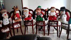 Enfeites de Natal com moldes para imprimir - Criativo Ok Christmas Villages, Christmas Ornaments, Knitted Booties, Diy, Holiday Decor, Home Decor, Mantel, Google, Shape Crafts