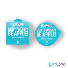 DON´T WORRY BE APPLE MASSAGE OIL CANDLE.