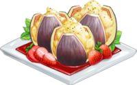 Recipe-Stuffed Figs with Strawberry Sauce