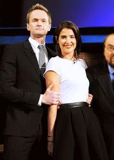 Neil Patrick Harris and Cobie Smulders on 'Inside The Actors Studio'.