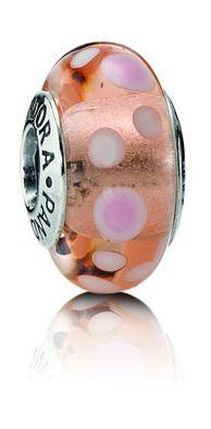 Pandora Bubbles Murano Pink