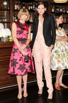 Anna Wintour and Jenna Lyons at the J.Crew and CFDA/Vogue Fashion Fund dinner in NYC.