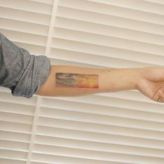 : The Sunset Sky & the daytime Sky . #tattoo #tattoos #tattooing #art #tattooistdoy #inkedwall #design #drawing #타투 #타투이스트도이 #SwashRotary #dynamic #intenz #silverback #BellLiner #BellNeedle #TattooSupplyBell