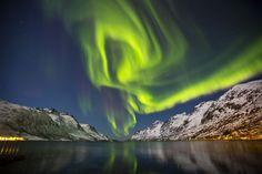 Las auroras boreales muestran el impacto del viento solar sobre la Tierra.