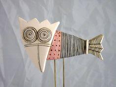 Handmade Ceramic Art TileCeramic by MakedonskaCeramicArt on Etsy Ceramic Birds, Ceramic Clay, Painted Earth, Ceramic Workshop, Flower Sketches, Cardboard Art, Funky Art, Dog Pin, Pottery Designs