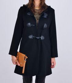 Płaszcz wełna-kaszmir  ze skórzanym pasem w talii w NAT Fashion Room na DaWanda.com