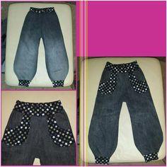 Alte Jeans von mir wird Jeans für's Töchterchen