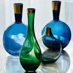 Coloured glass vases by Conran for M&S