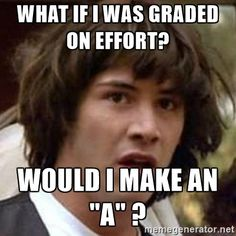 """Conspiracy Keanu - What if I was graded on effort?  Would I make an """"A"""" ?"""