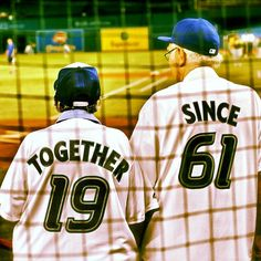 Love of the game: Blue Jays fans Gerry and Elenor Dermody celebrate 50th wedding anniversary. This is too precious!