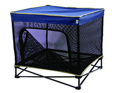 Pet Shade's and Pet Kennel's elevated mesh bed keeps pets cool and dry, while the protective canopy provides a much needed shaded area. #pets #dogs #travel