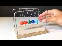 How to Make Simple Newton's Cradle at Home Kids Educational Crafts, Science Crafts, Science Activities For Kids, Educational Websites, Physics Projects, Stem Projects, Diy Craft Projects, Homemade Clocks, Diy For Kids