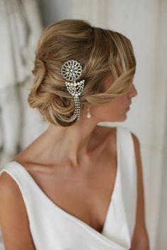 esküvő frizura haj laza konty