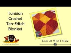 Tunisian Crochet Ten Stitch afgan video tutorial | It's all in a Nutshell