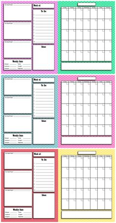 DIY Crafts | Printables | Enjoy an organized year with this FREE printable blog planner and calendar!