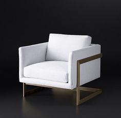 8. Milo Baughman Model #3426, 1968 Fabric Chair, Custom fabrics and finishes, Approximately $3395 - $4795