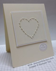 www.stampwithbrian.com - CAS Valentine; paper piercing video