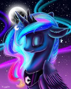 MLP - Princess Luna by WingsterWin on DeviantArt My Little Pony 1, My Little Pony Twilight, My Little Pony Drawing, My Little Pony Pictures, My Little Pony Friendship, Princesa Celestia, Celestia And Luna, Eyes Closed, Princess Twilight Sparkle