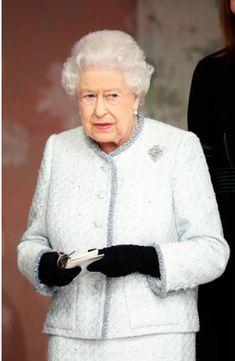 February 2018. Queen Elizabeth II awards designer Richard Quinn the inaugural Queen Elizabeth II award for British Design during London Fashion Week February 2018 on February 20, 2018 in London, England. (Photo by Tristan Fewings/BFC/Getty Imag