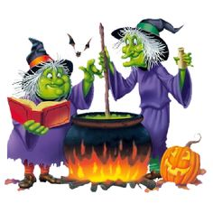 cute  halloween witch painting | Halloween Funny Witch Cartoon Clip Art Images