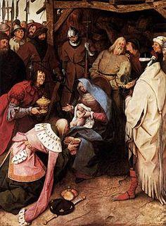 Adorazione dei Magi AutorePieter Bruegel il Vecchio Data1564 Tecnicaolio su tavola Dimensioni108 cm × 83 cm  UbicazioneNational Gallery, Londra