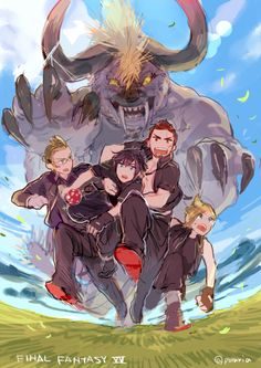 Noctis and his crew :)