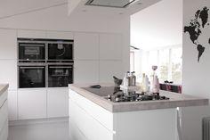 hvitt kjøkken betong benkeplate - Google-søk