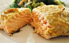 Hummus Crusted Salmon - This easy 3 ingredient recipe comes together quickly and is really flavorful.