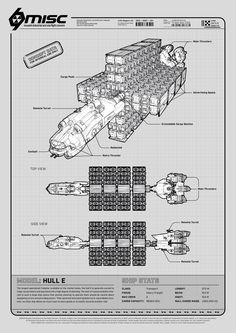 MISC Hull E | Star Citizen Poster | Poster Design by Christoph Rupsch