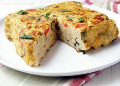 ¡Sano y de rechupete!: Tortilla de coliflor (microondas u horno)