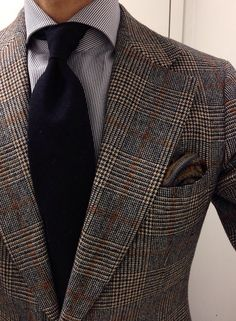 Vintage thrifted SC Finamore shirt Panta wool donegal tie Drakes for LuxeSwap paisley wool silk PS Creed Tabarome