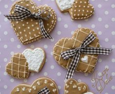 RI heart decorated cookies