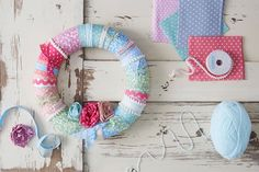 If you fancy adding a bit of spring festivity to your home this Easter, a wreath is a fantastic and subtle way to do so. Go soft and subtle with a fabric wreath, using a polystyrene base instead of a rattan one for some soft spring styling - pastels are a must!