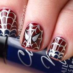 Spiderman Nails! Awesome!