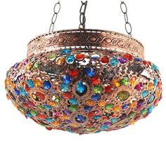 Lámpara colgante estilo árabe plana #decoracion #interiorismo #lamparas