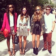 Fashion blogger Song of Style and friends. #NYFW