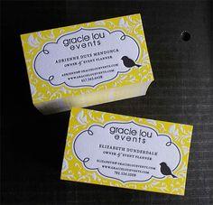Letterpress Business Card: Gracie