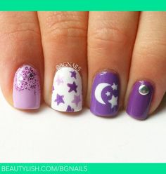 Cute Moon Nails~
