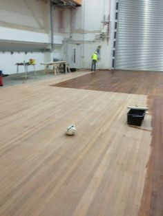 Warehouse refurbishment - we had to do a really good primary sand to remove years of dirt and grease revealling the lovely light wood underneath. Redstone, Hardwood Floors, Flooring, Refurbishment, Grease, Warehouse, Restoration, Wood Floor Tiles, Wood Flooring