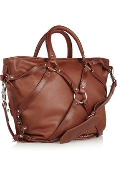 Bridle leather shoulder bag by McQ Alexander McQueen