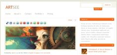 Orange and Grey Portfolio and Blog WordPress theme with soothing textures