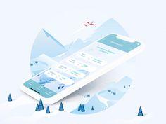 Mobile App | Winter Shuttle by Léa Poisson