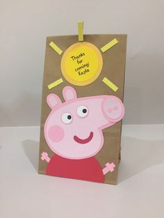 Peppa Pig inspired treat bags peppa pig party by Craftophologie