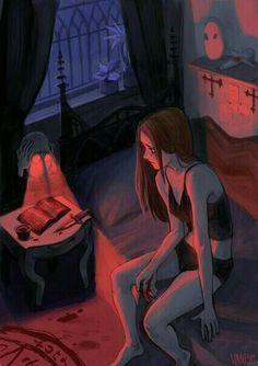 Art And Illustration, Illustrations, Arte Black, Anime Triste, Sad Drawings, Sad Art, Aesthetic Art, Art Inspo, Art Girl