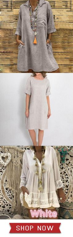 Shop the latest fashion chic dresses online, we offer the hot trendy high-quality dresses, clothes and other fashion products for women. Casual Cotton Dress, Cotton Dresses, Casual Dresses, Fashion Dresses, Chic Dress, Summer Dresses For Women, Comfortable Outfits, Plus Size Dresses, Dresses Online