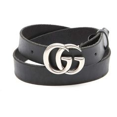 GUCCI Leather Belt With Silver Logo ($340) ❤ liked on Polyvore featuring men's fashion, men's accessories, men's belts and mens silver belt