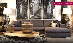 Sfeervolle woonkamer met unieke wanddecoratie. | Rofra Home