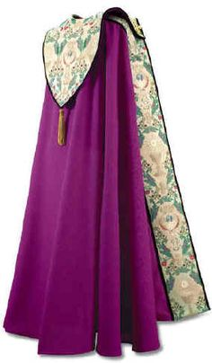 TAPESTRY OF LIFE - PURPLE WITH MAROON VELVET PIPING COPE