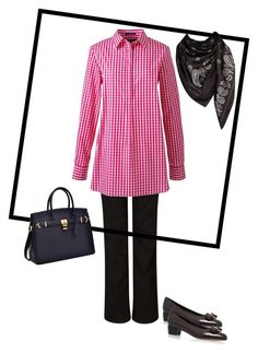 """Muslimah office wear"" by shari-alwee on Polyvore featuring John Lewis, Lands' End and Salvatore Ferragamo"